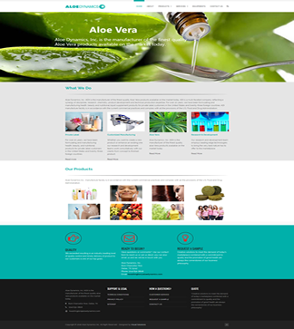 Aloe  Dynamics Visual Solutions WordPress Web Design
