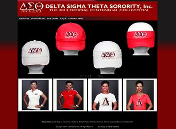 Delta Sigma Theta Sorority Visual Solutions Pinnacle Cart Web Design