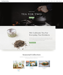 Tea Shop Theme Visual Solutions WordPress Web Design