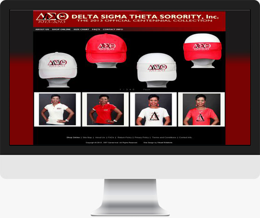 Delta Sigma Theta - Visual Solutions Pinnacle Cart Web Design